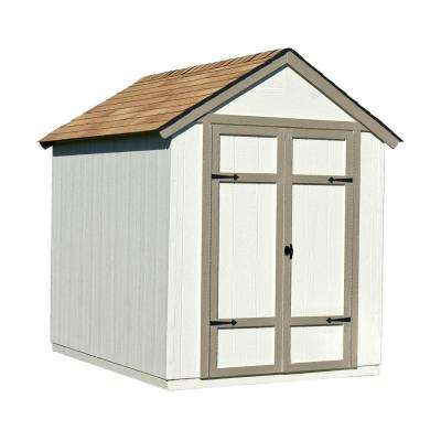 Sherwood 6 ft. x 8 ft. Wood Shed Kit with Floor Frame