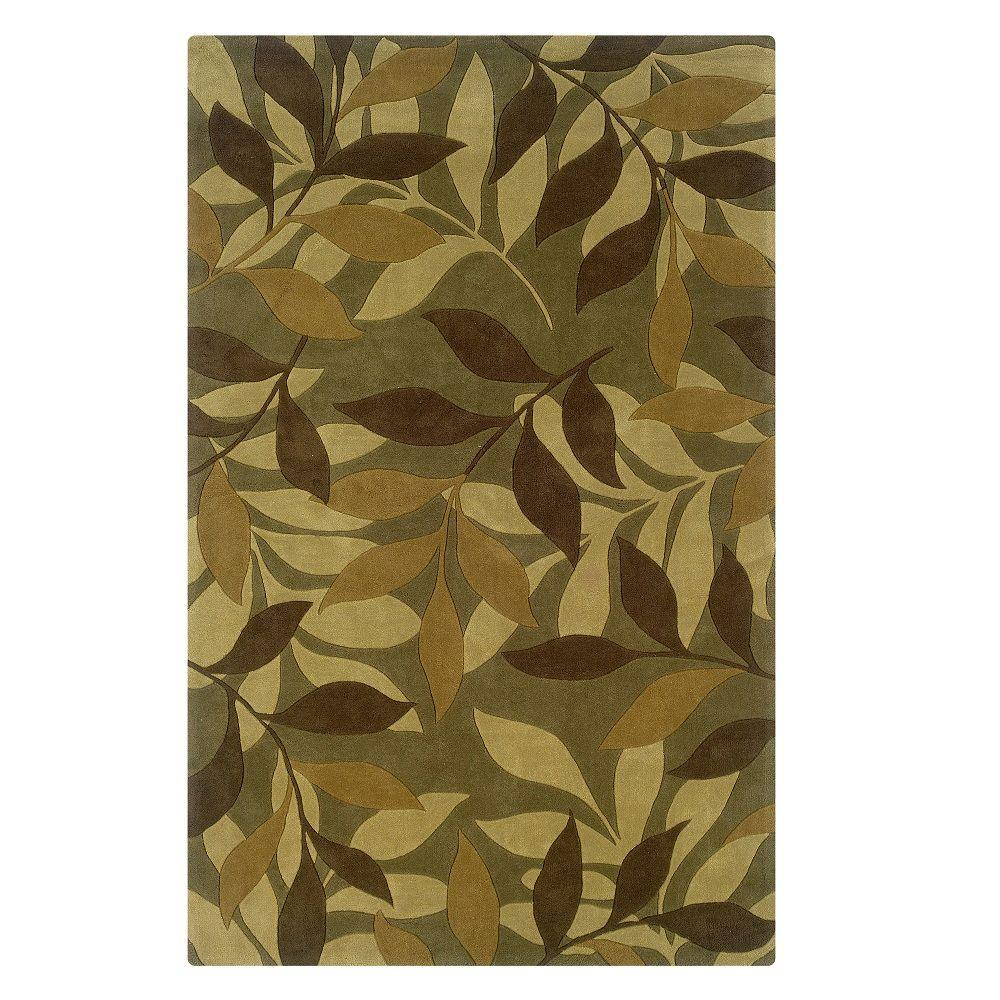 Linon Home Decor Trio Collection Green And Brown 8 Ft X 10 Ft Indoor Area Rug Rug Tab01381