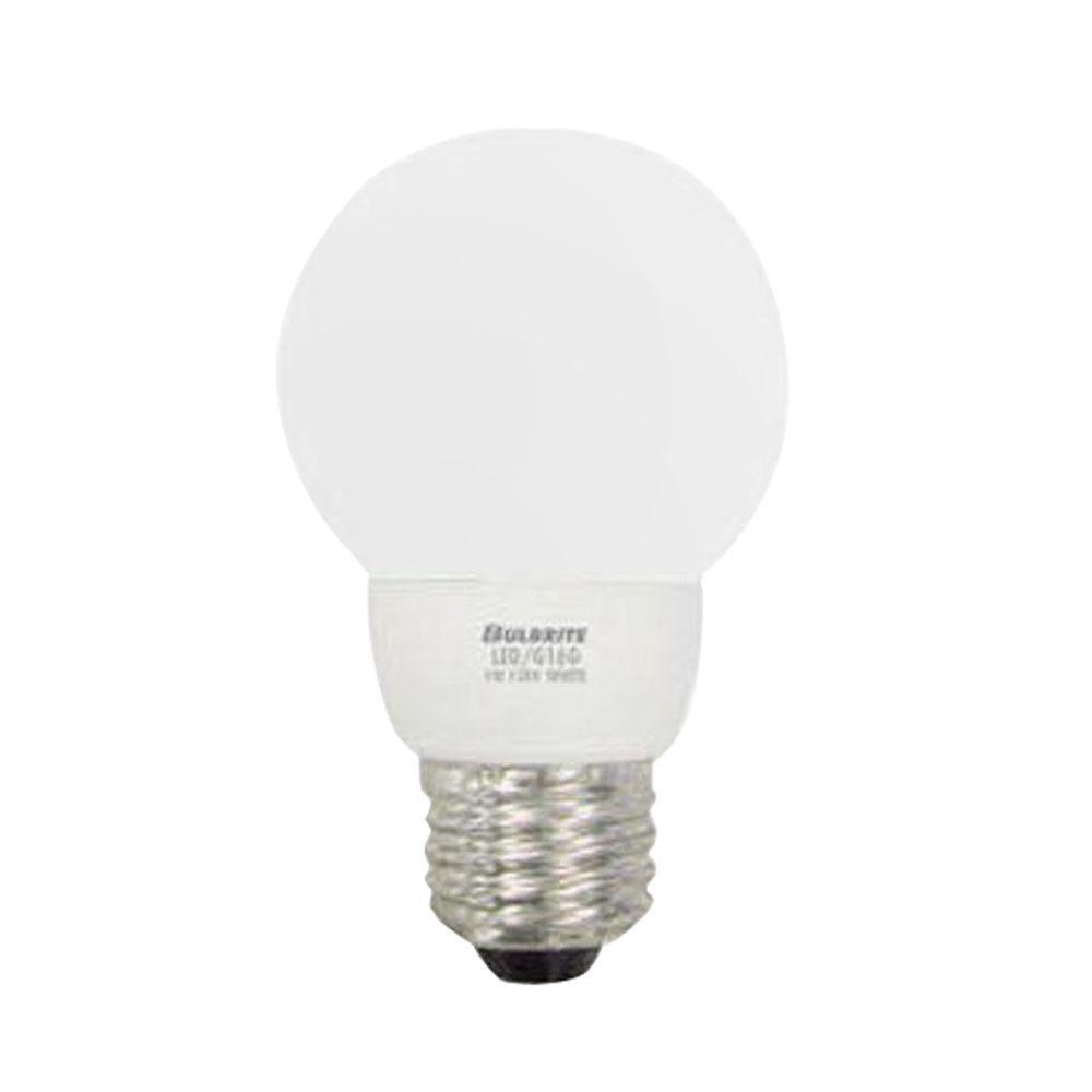 Bulbrite 1W Equivalent Bright White (2700K) G16 LED Light Bulb (5-Pack)