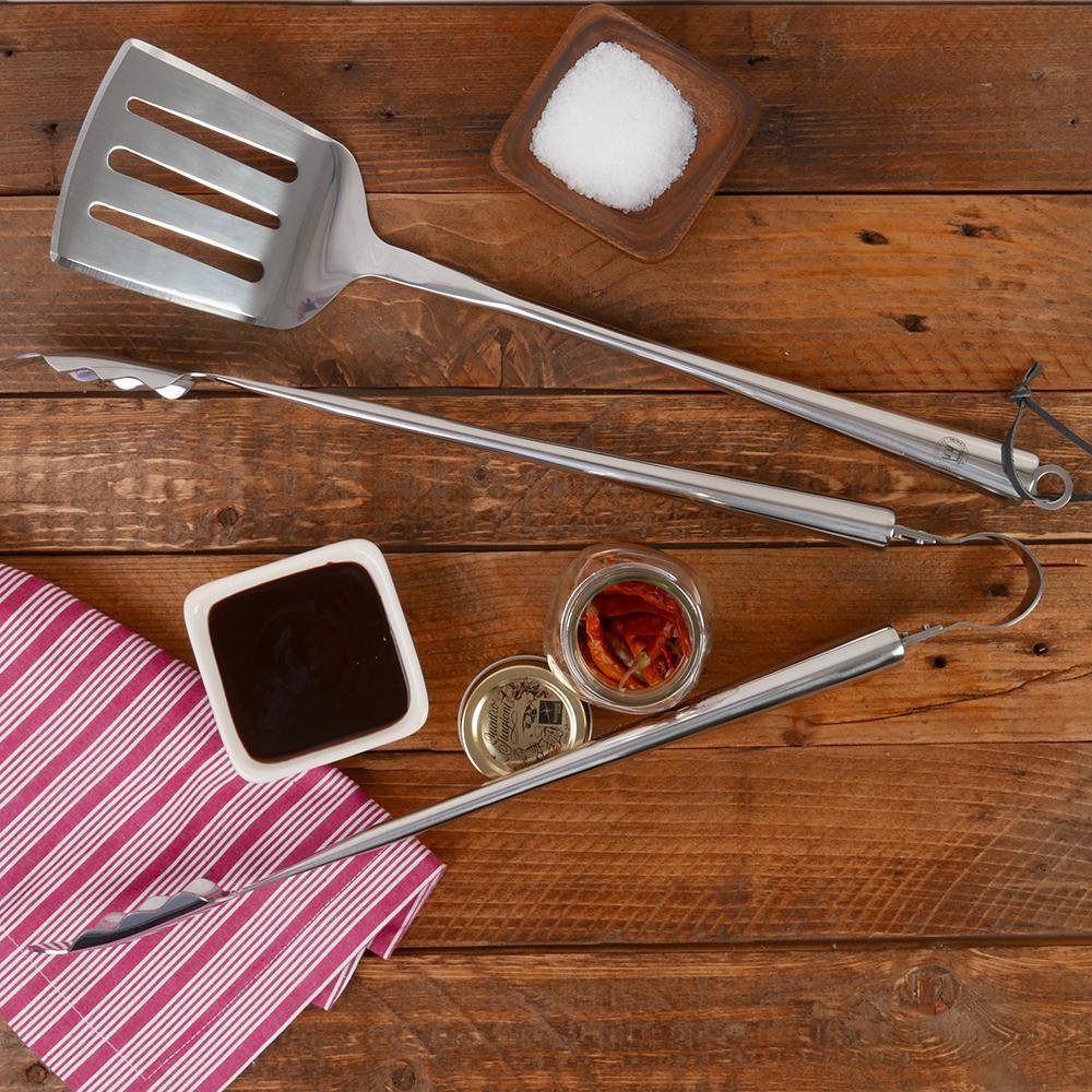 BBQ 2-Piece Chrome Grill Set