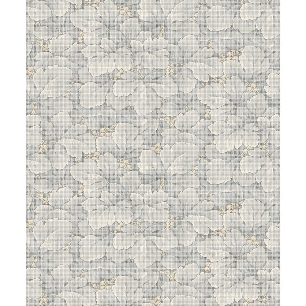 Wall Vision 57.8 sq. ft. Waldemar Grey Foliage Wallpaper 2827-4546