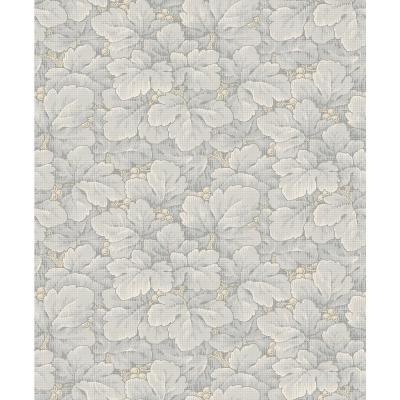 Waldemar Grey Foliage Wallpaper Sample