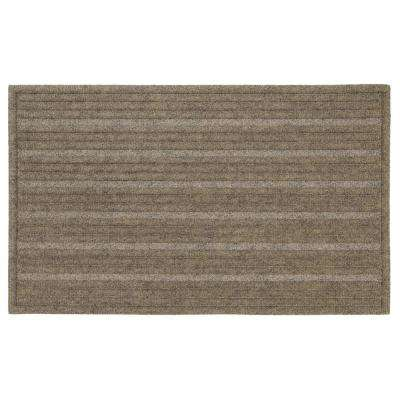Ribbed Chestnut 18 in. x 30 in. Impressions Mat