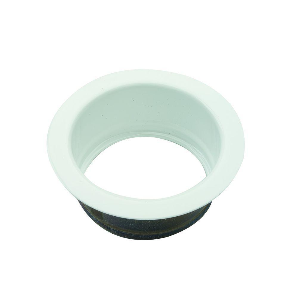 BrassCraft 3-1/2 in. Garbage Disposal Flange in White