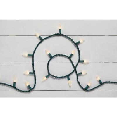 68 ft. 200-Light LED Bright White Faceted C6 Super Bright String Light
