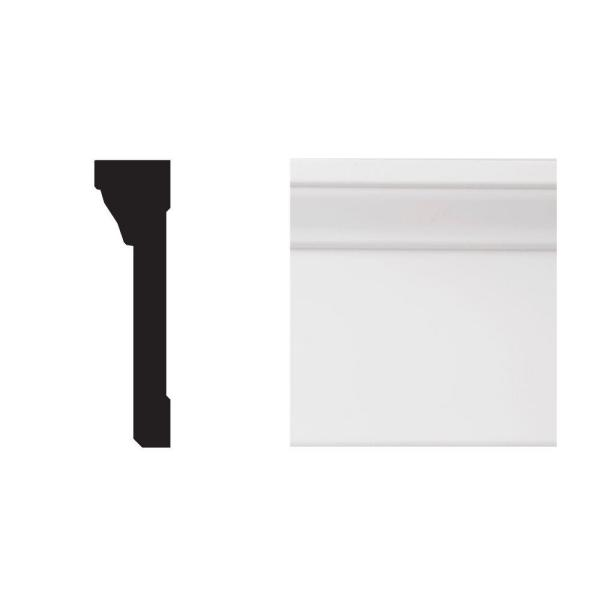 2590 1-13/16 in. x 4-1/3 in. x 8 ft. Primed White PVC Casing and Backband Moulding