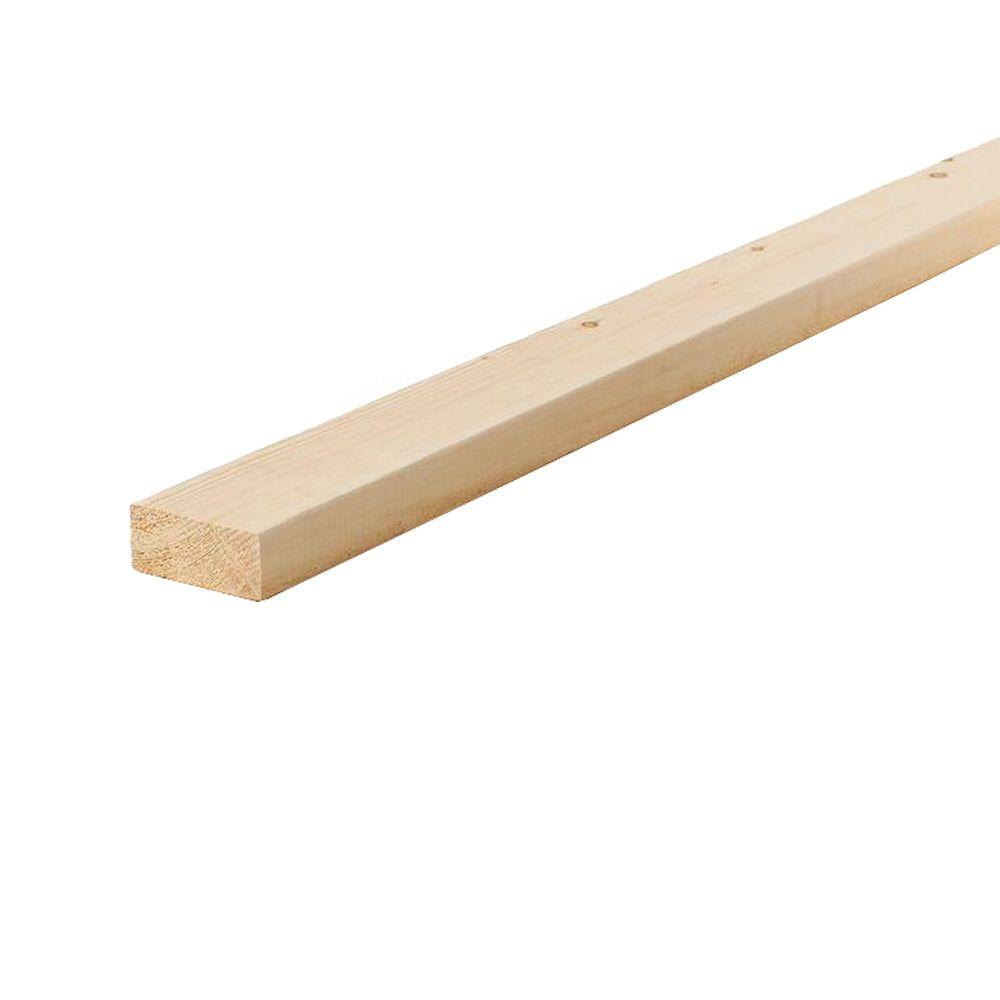 2 In X 4 In X 16 Ft Prime Standard And Better Douglas Fir Lumber 2167 16 The Home Depot