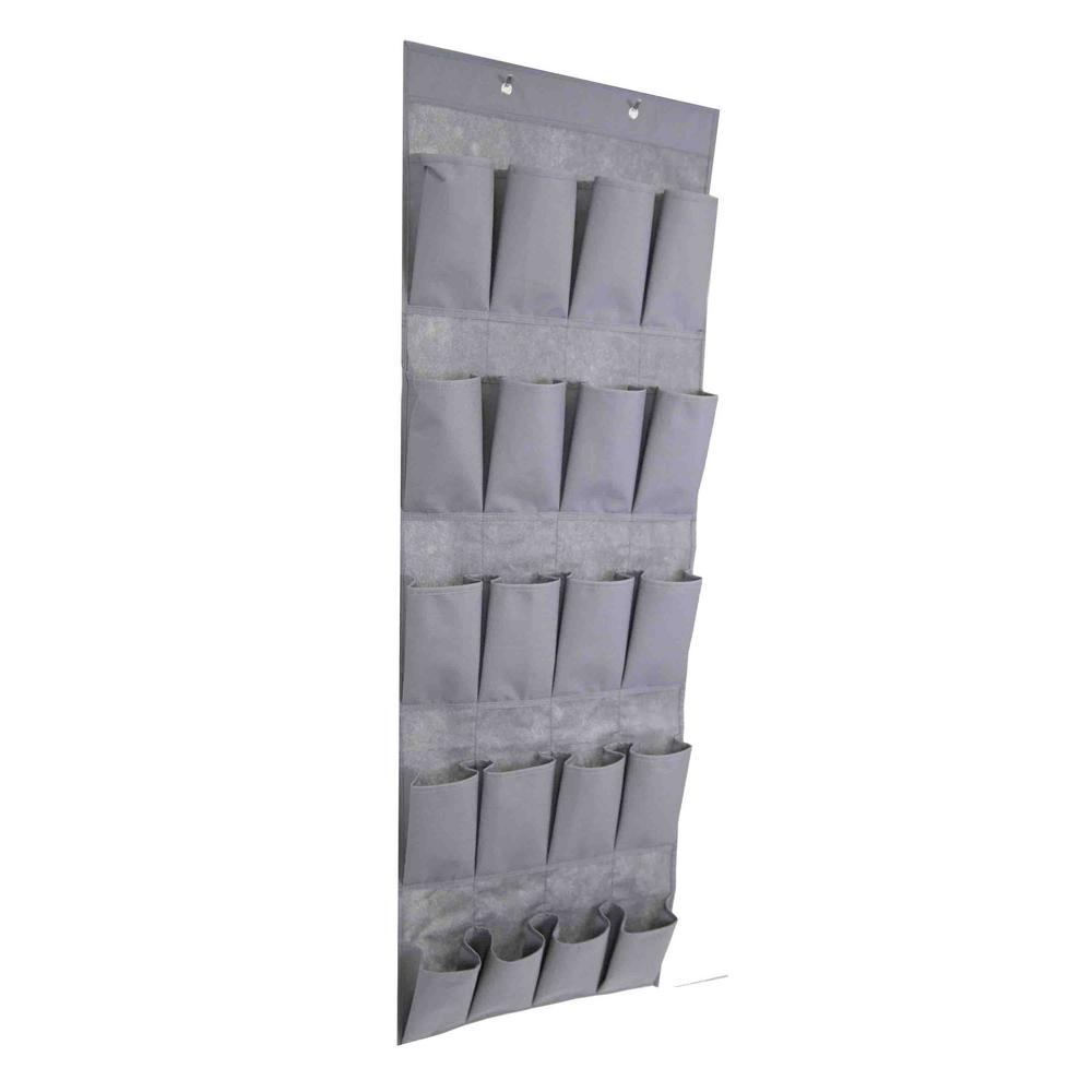 20-Pair Gray Over-the-Door Shoe Organizer