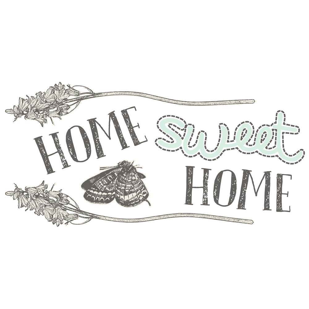 24 in. x 11.8 in. Home Sweet Home Wall Sticker