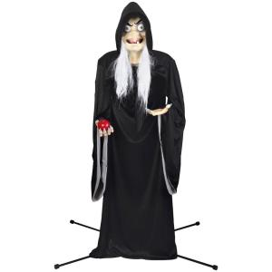 Gemmy Life Size Animated Kd Snow White Old Witch Disney