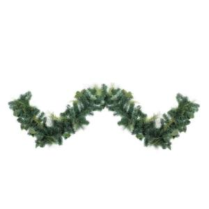 9 ft. Assorted Green Foliage and Needle Branch Christmas Garland - Unlit