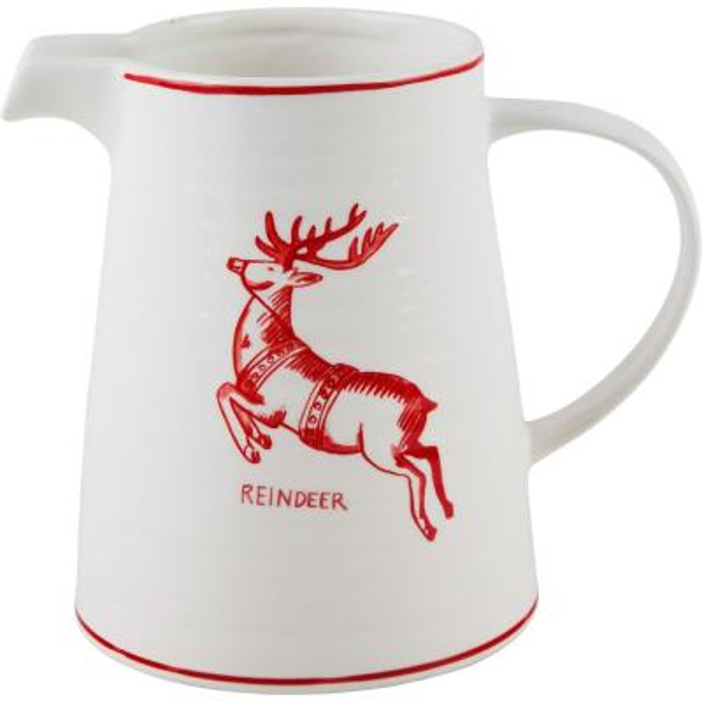 7 in. H Reindeer Pitcher