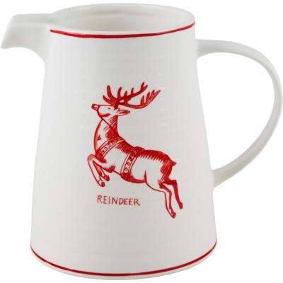 7 in. H Reindeer Pitcher