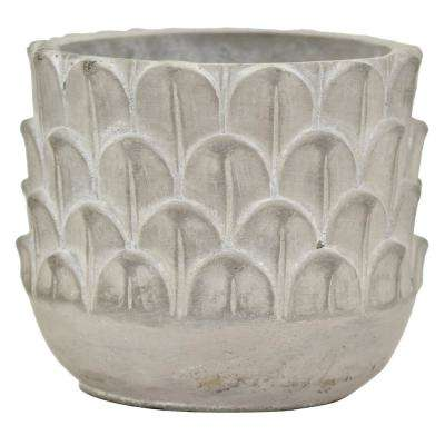 5.5 in. Gray Terracotta Planter