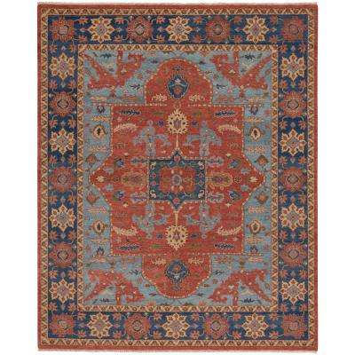 Biltmore Plantation Nomad Cinnamon Deep Blue 8 ft. 6 in. x 11 ft. 6 in. Area Rug