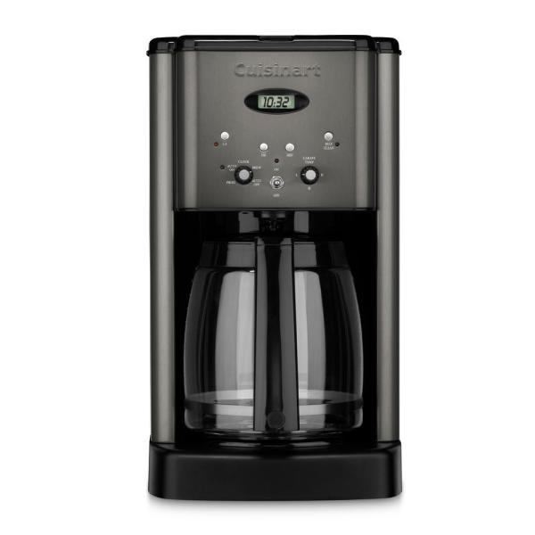 Cuisinart Brew Central 12-Cup Black Stainless Steel Drip Coffee Maker with