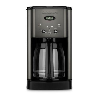 Brew Central 12-Cup Black Stainless Steel Drip Coffee Maker with Glass Carafe