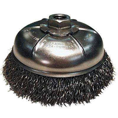 3 in. Wire Cup Brush for use with angle grinders with an M10 x 1.25 arbor or adapter