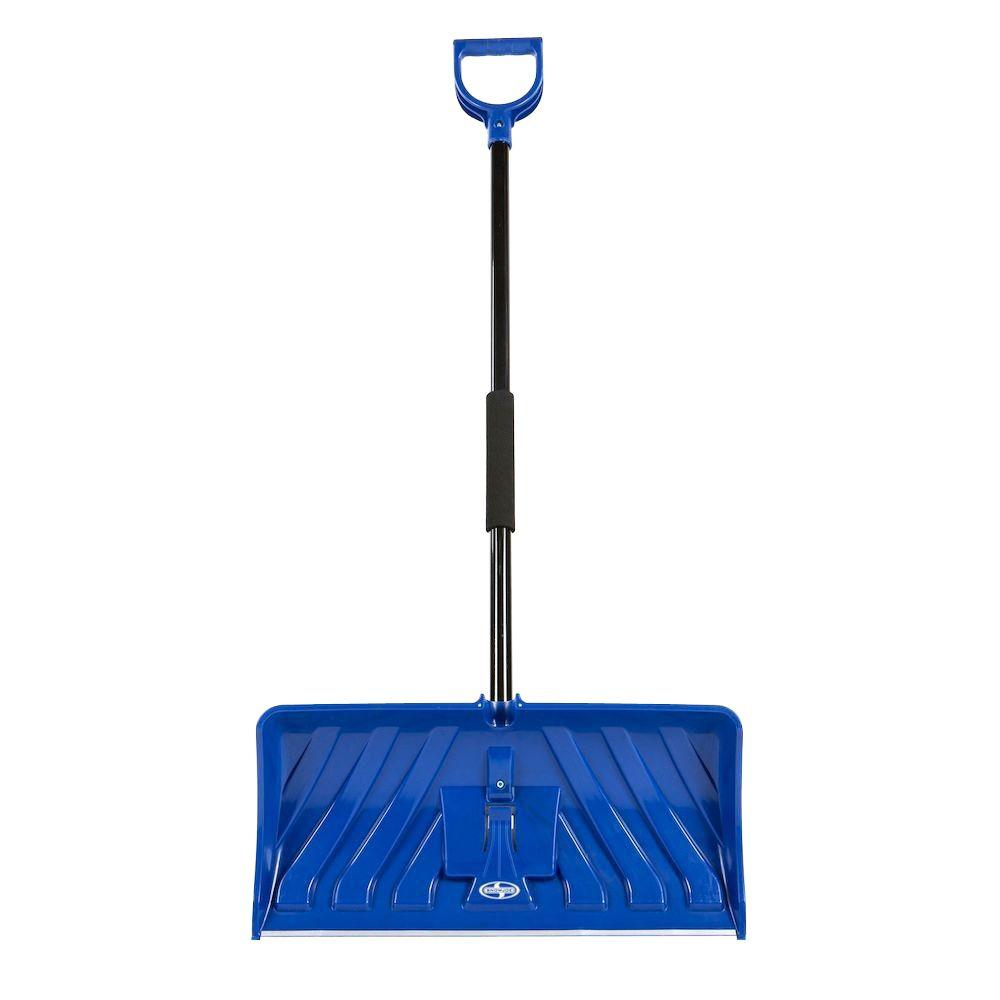 Snow Joe Edge 24 in. Poly Blade Snow Pusher and Ice Chopper Blue