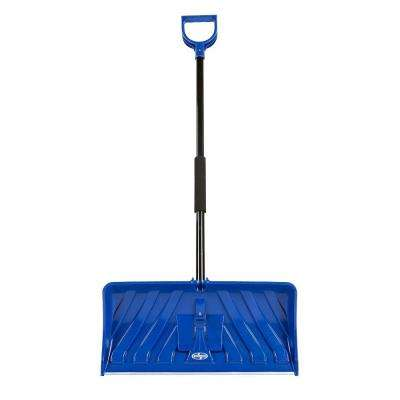 Edge 24 in. Poly Blade Snow Pusher and Ice Chopper Blue