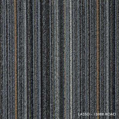 Lasso Road Loop 19.68 in. x 19.68 in. Carpet Tiles (8 Tiles/Case)