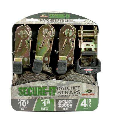 10 ft. x 1 in. Camouflage Ratchet Tie Down (4-Pack)