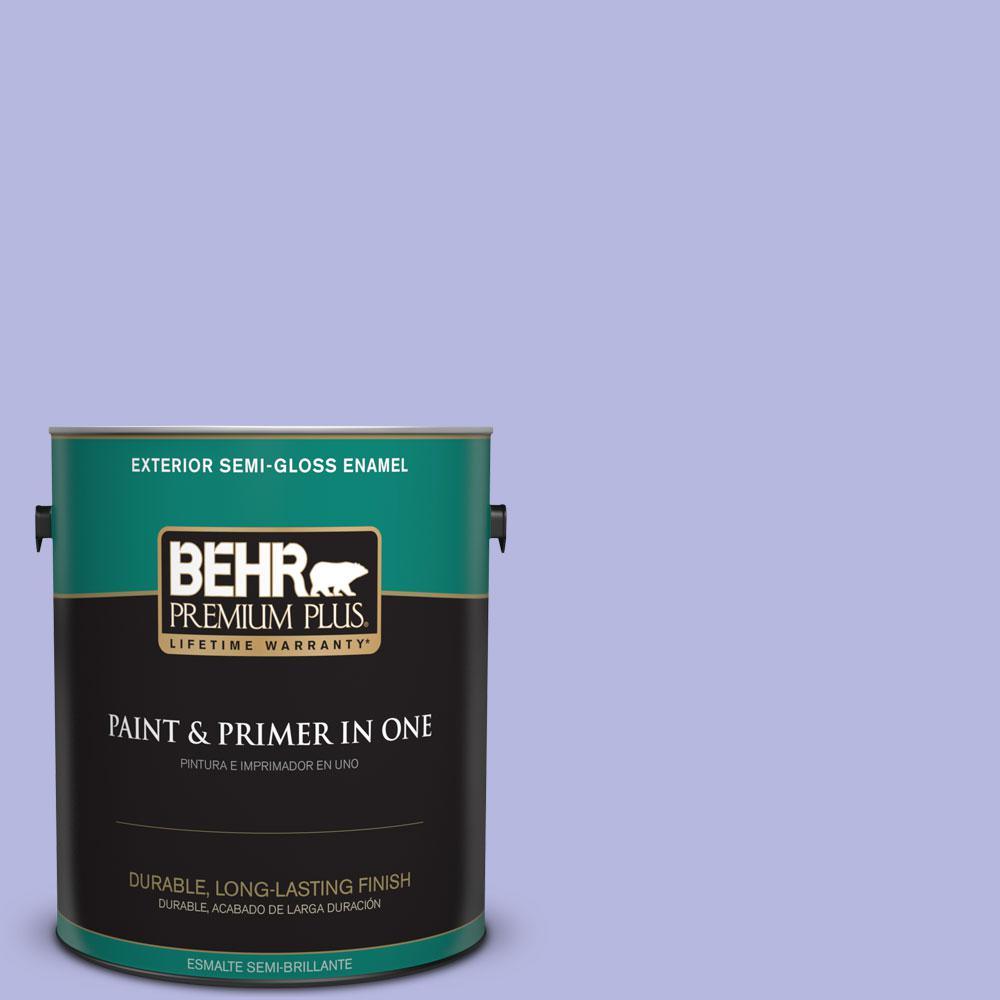 1-gal. #P550-3 Lavender Cloud Semi-Gloss Enamel Exterior Paint