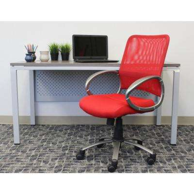 Red Mesh Back Task Chair (Vibrant)