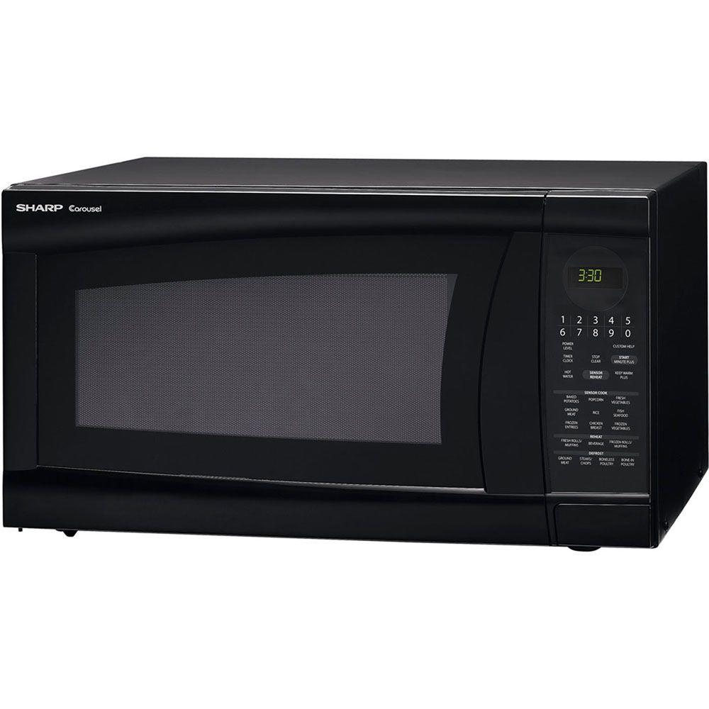 Sharp Refurbished 2.0 cu. ft. Countertop Microwave in Black with Sensor Cooking-DISCONTINUED