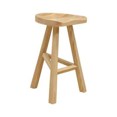 26 in. Hemi Natural Wood Modern Counter Stool