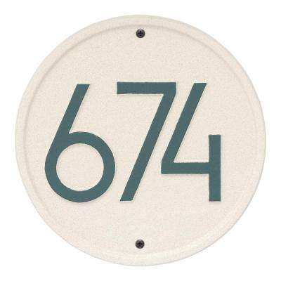 Round Modern Personalized Round Wall Plaque
