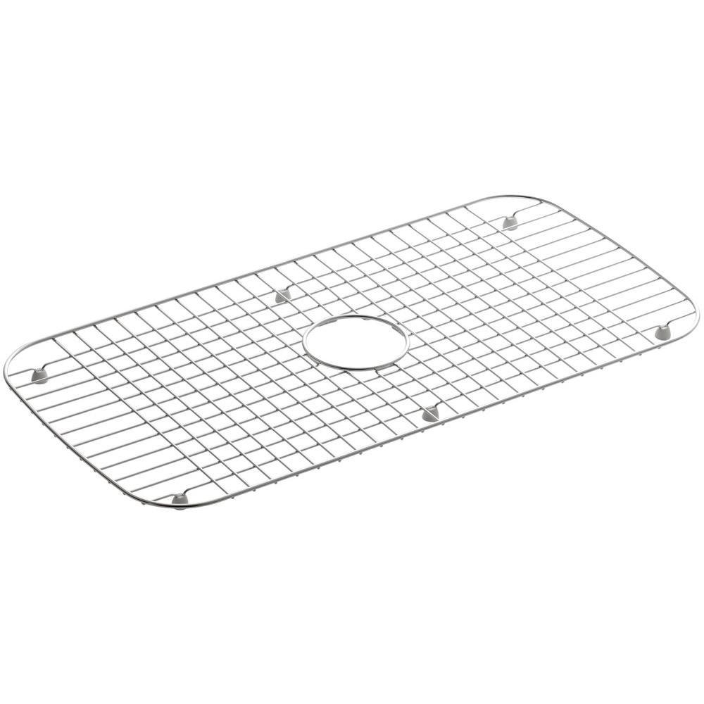 KOHLER Undertone 13-3/4 in. x 27-1/2 in. Bottom Sink Bowl Rack in Stainless Steel