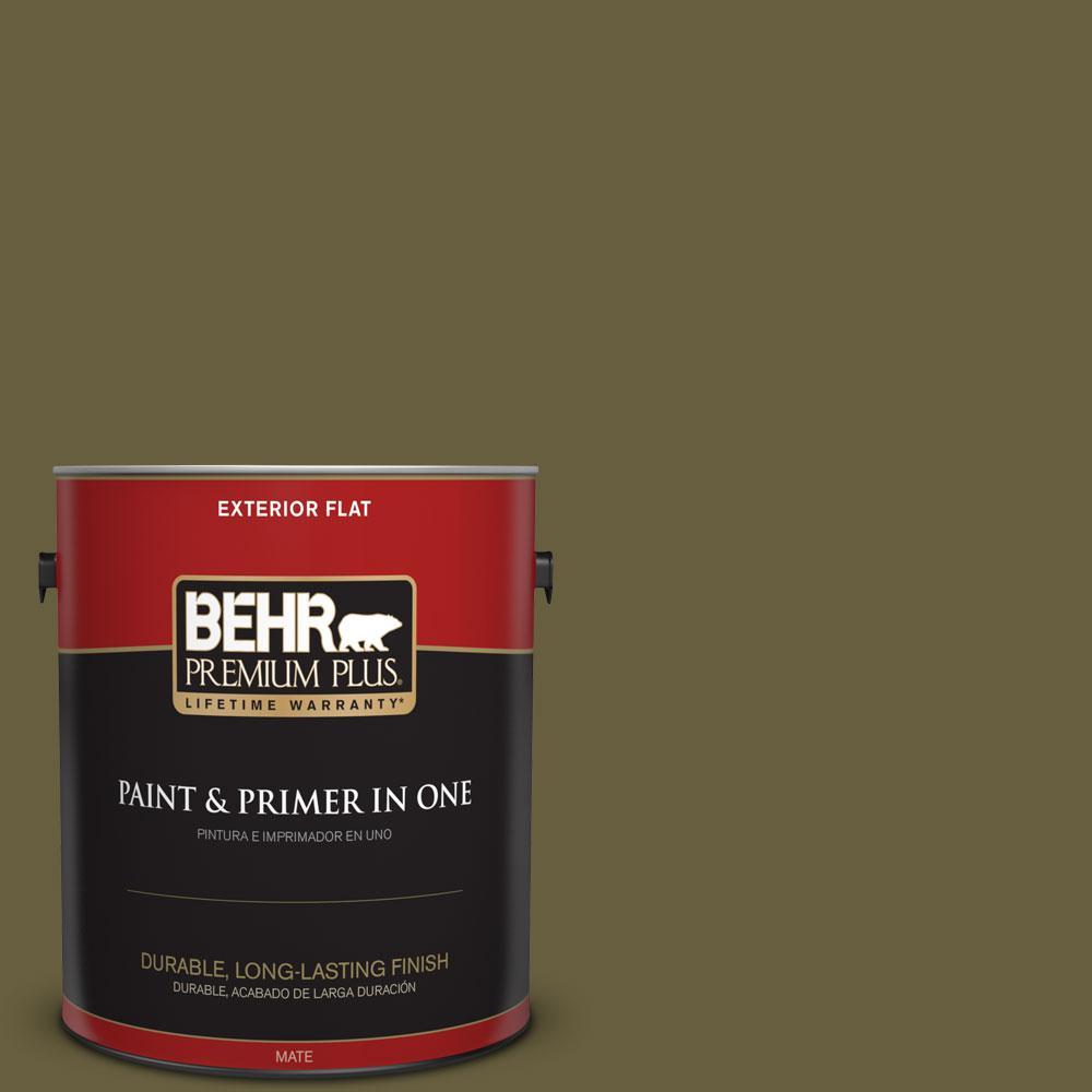 1-gal. #ICC-88 Classic Olive Flat Exterior Paint