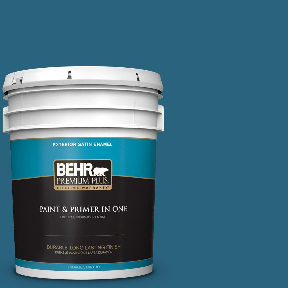 5-gal. #550D-7 Southern Evening Satin Enamel Exterior Paint