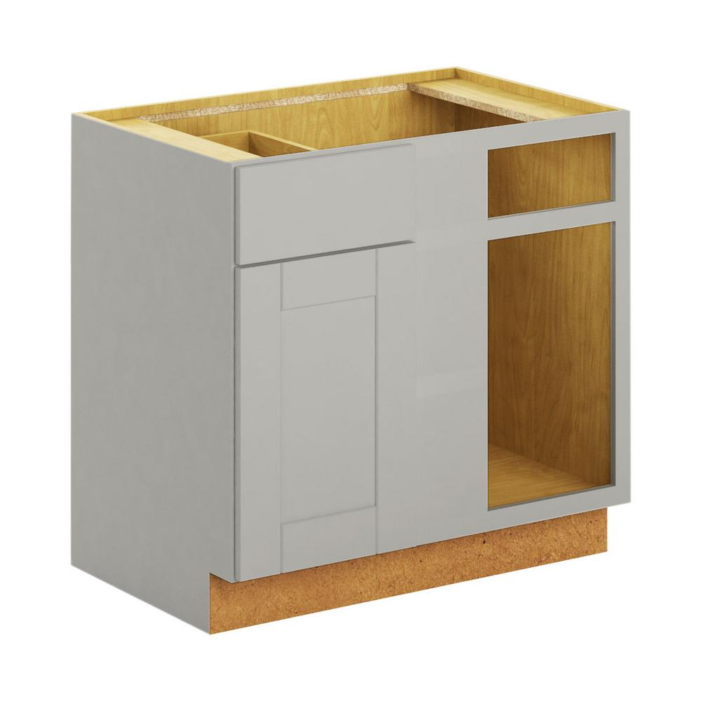 Hampton Bay Princeton Shaker Embled 36x34 5x24 In Blind Corner Base Cabinet Warm