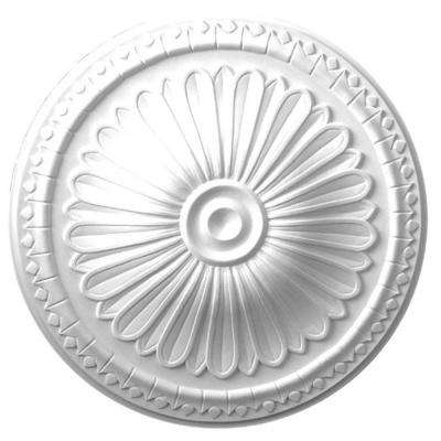 15 in. x 1-3/4 in. Gothic Floral Polyurethane Ceiling Medallion