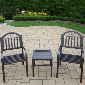 Rochester 3-Piece Metal Outdoor Bistro Set by