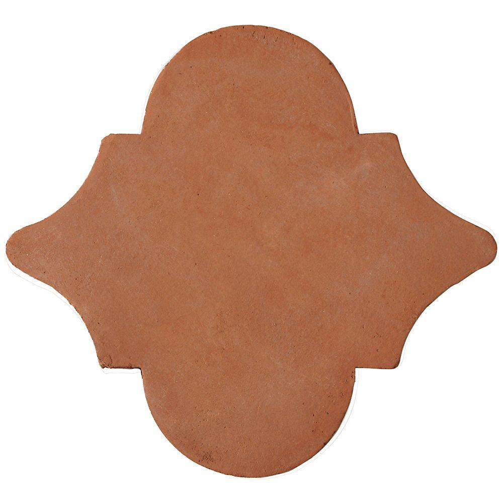 Solistone Handmade Terra Cotta Medallion 6-1/2 in. x 6-1/2 in. Floor and Wall Tile (1.25 sq. ft. / case)