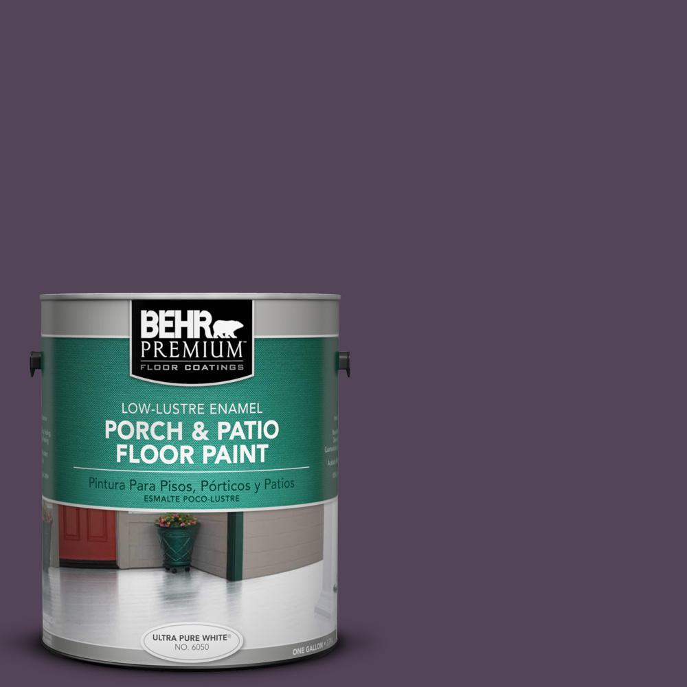 1 gal. #M100-7 Deep Merlot Low-Lustre Porch and Patio Floor Paint