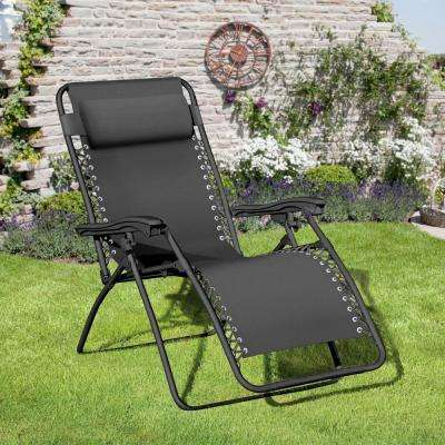 Royale Black Metal Outdoor Lounge Chair