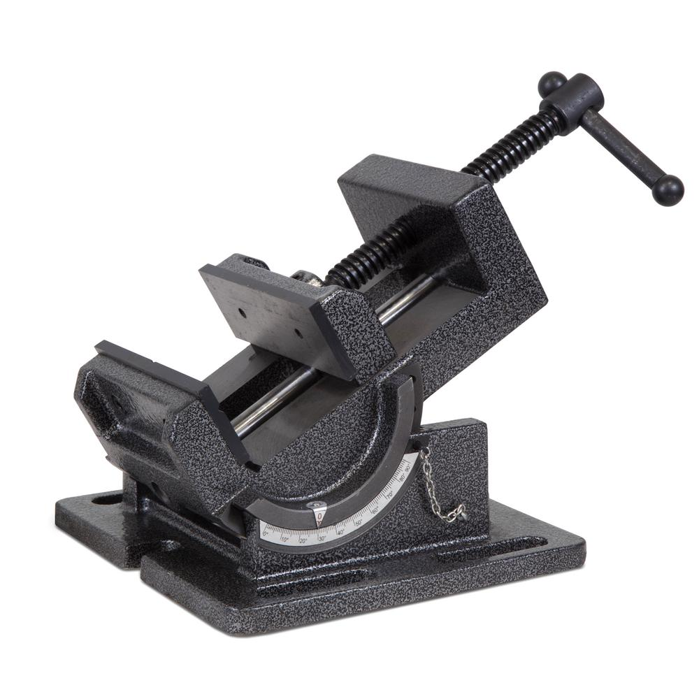 4.25 in. Industrial Strength Benchtop and Drill Press Tilting Angle Vise