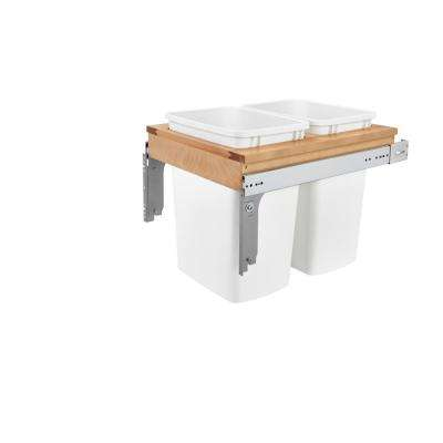 17.875 in. H x 17.75 in. W x 24.5 in. D Double 35 Qt. Pull-Out Top Mount and White Container for 1-5/8 in. Face Frame