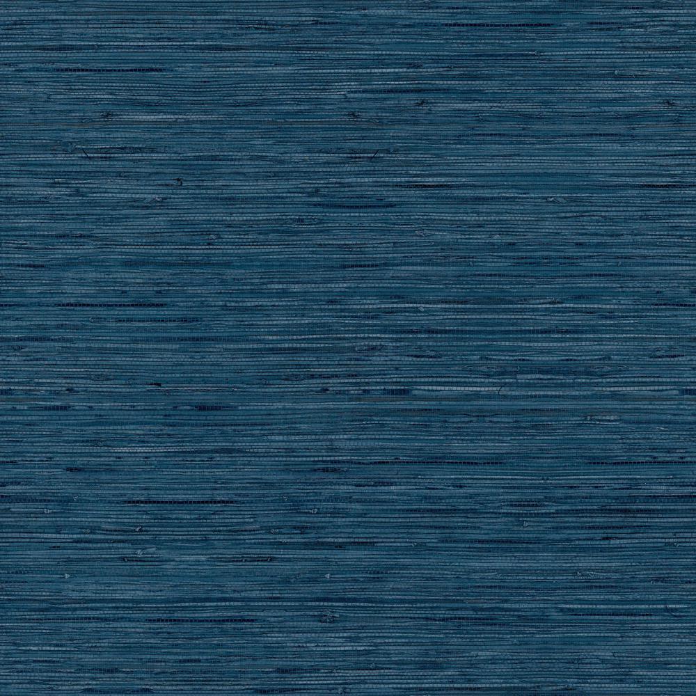 RoomMates 28.18 sq. ft. Grasscloth Blue Peel and Stick Wallpaper RMK11314WP