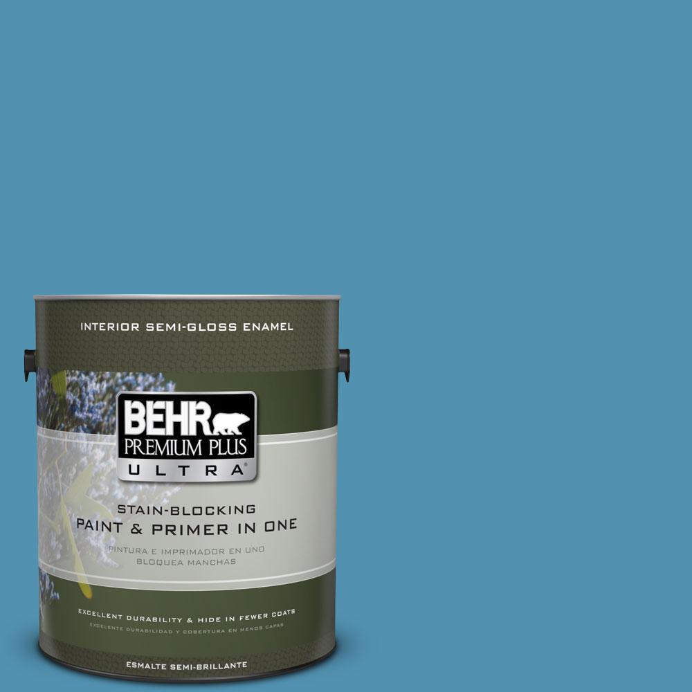 1-gal. #M490-5 Jet Ski Semi-Gloss Enamel Interior Paint