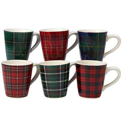 Christmas Plaid 14 oz. Mug (Set of 6)