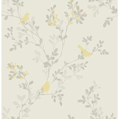 Brewster Yellow Botanical Wallpaper Home Decor The Home Depot