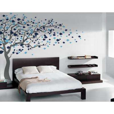 123 in. x 83 in. Blowing in the Wind Tree Removable Wall Decal