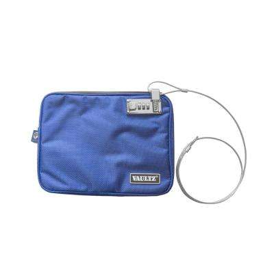 Locking Pouch with Tether Medium, Blue