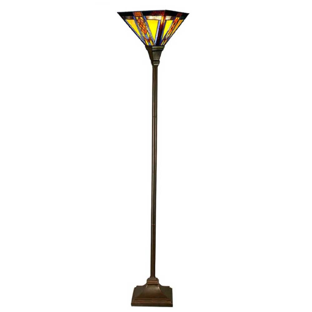 River of goods 71 in multi colored floor lamp with stained glass multi colored floor lamp with stained glass mission style aloadofball Choice Image