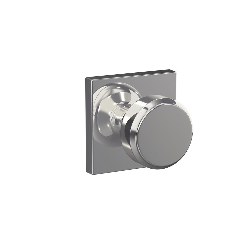 Schlage Custom Bowery Bright Chrome Collins Trim Combined